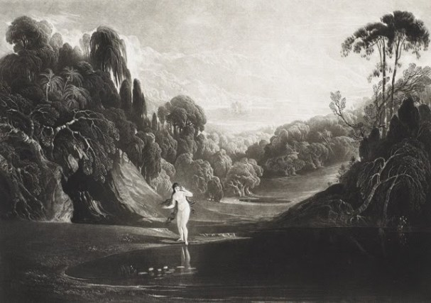 John Martin Paradise Lost Eve at the Fountain