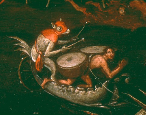 JS nach Bosch(?), Die Hoelle, Det. - Hell (Detail) / Painting after Bosch -